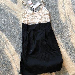 Aqua Black and white dress